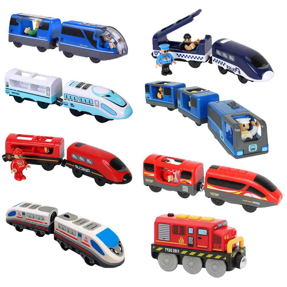 Railway Locomotive Magnetically Connected Electric Small Train Toy
