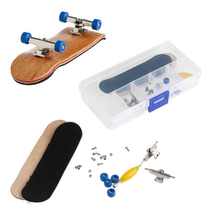Wooden Fingerboard Skateboard, Deck Sport Game Toy