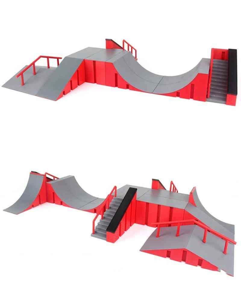 Mini Skateboard Toy, Skate Park For Techdeck Fingerboard Ramps