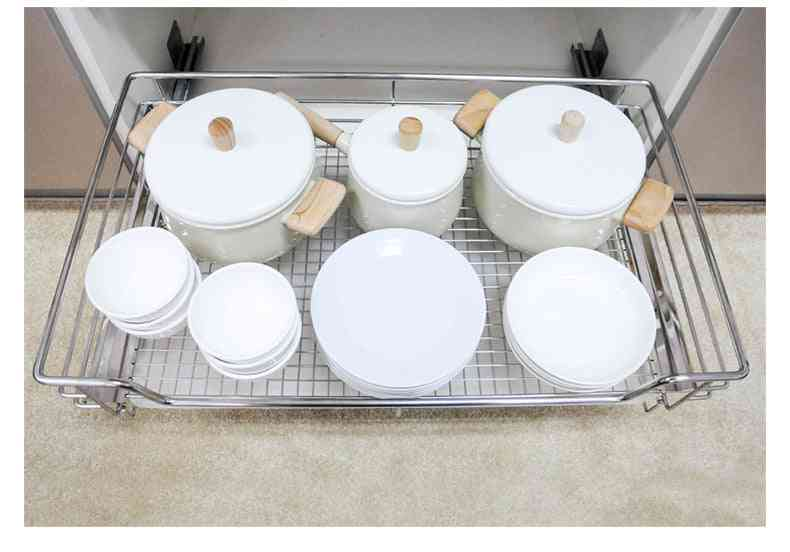 Factory Direct Pull Basket 304 Stainless Steel Pull Basket Kitchen