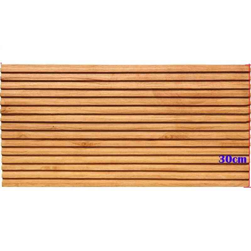 12pcs European Modern Style Rubber Vertical Wood Mosaic Tile