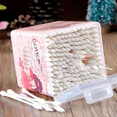 Pointed Handy, Cotton Swabs, Make-up Cosmetic Swabs For Ear Clean Tool