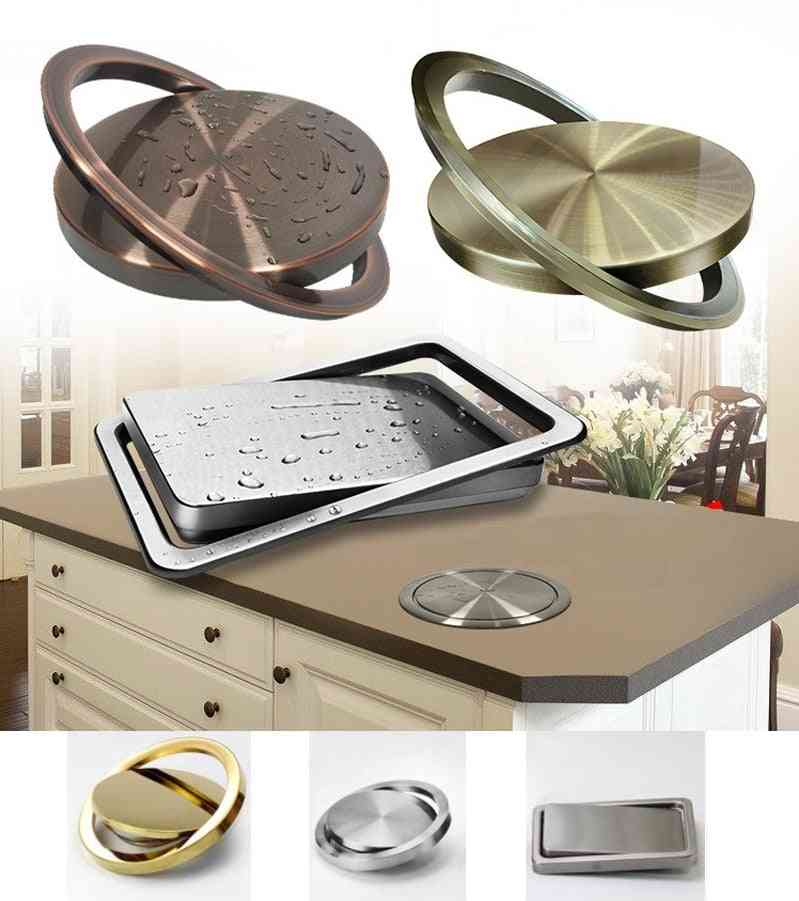 Stainless Steel Flush Recessed Swing Flap Lid Cover