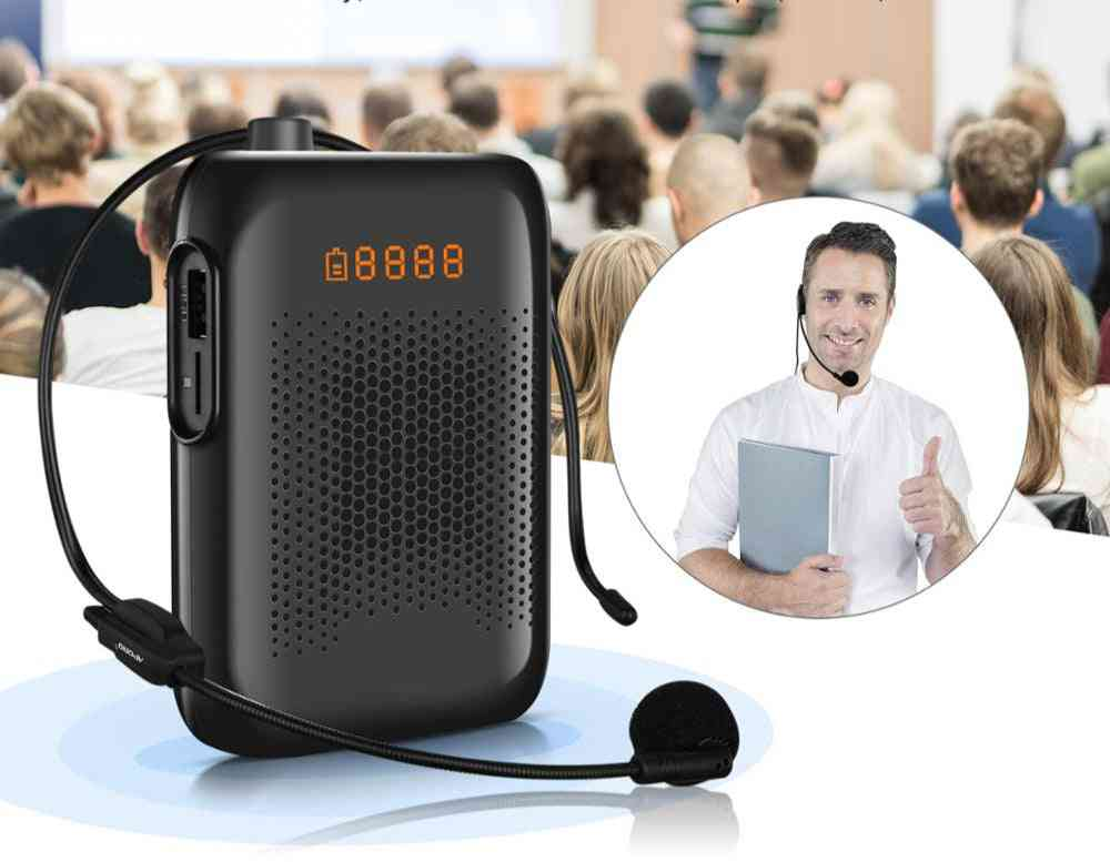 20w Wired Mini Audio Speaker Portable Voice Amplifier Natural Stereo Sound Microphone Loudspeaker