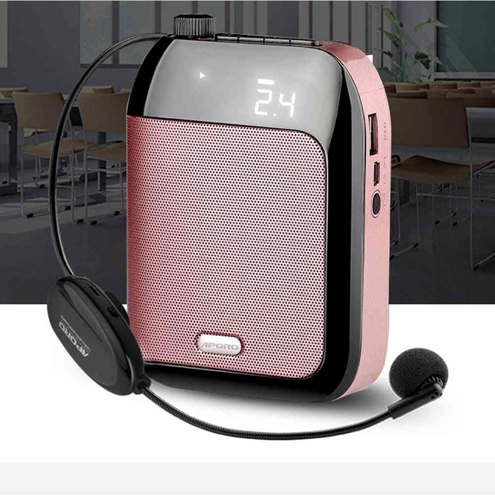 T9 Portable Wireless Bluetooth Voice Amplifier With Mic 2.4g Wireless Speaker Loudspeaker Tf/usb Disk