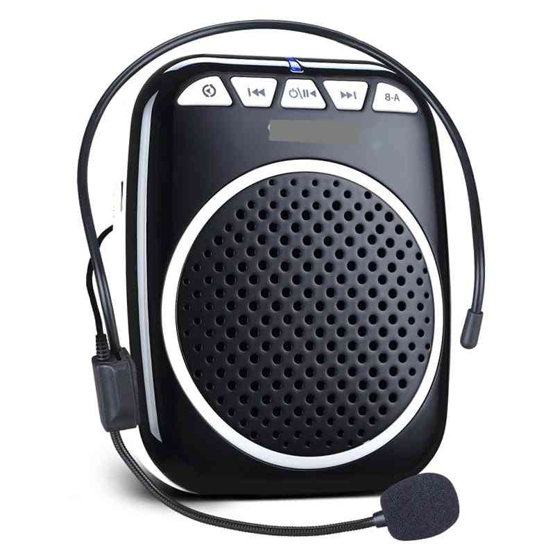 Voice Amplifier With Wired Microphone S308 5w Portable Rechargeable Personal Ultralight Mini Audio Speaker
