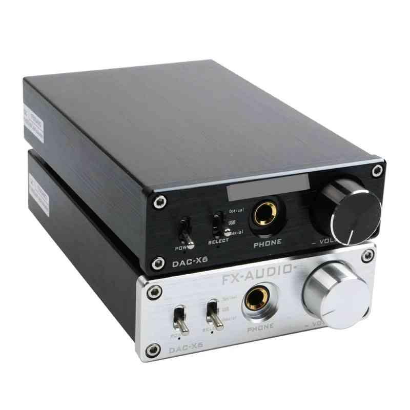 Fx-audio Dac-x6 Hifi Optical Coaxial Usb Digital Audio Amplifier Decoder With Headphone Output Amp