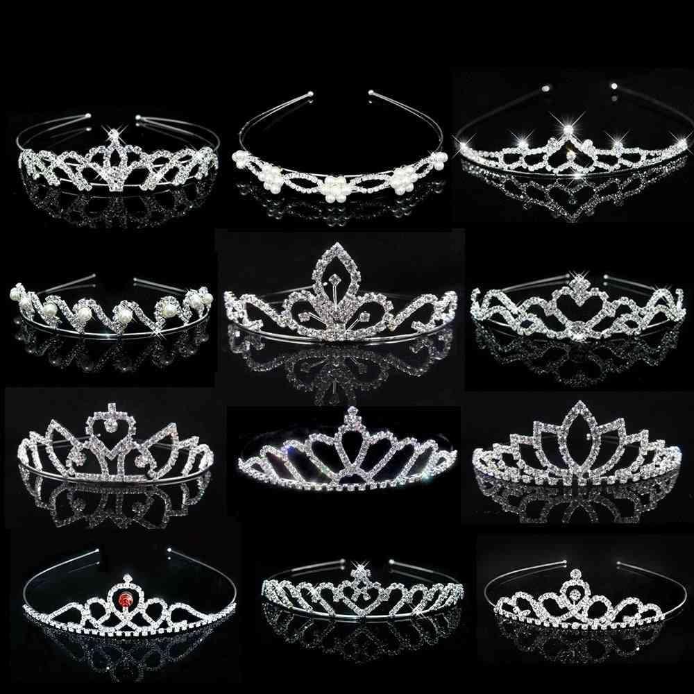 Princess Crystal Tiaras And Crowns Headband For Kid Hair Jewelry