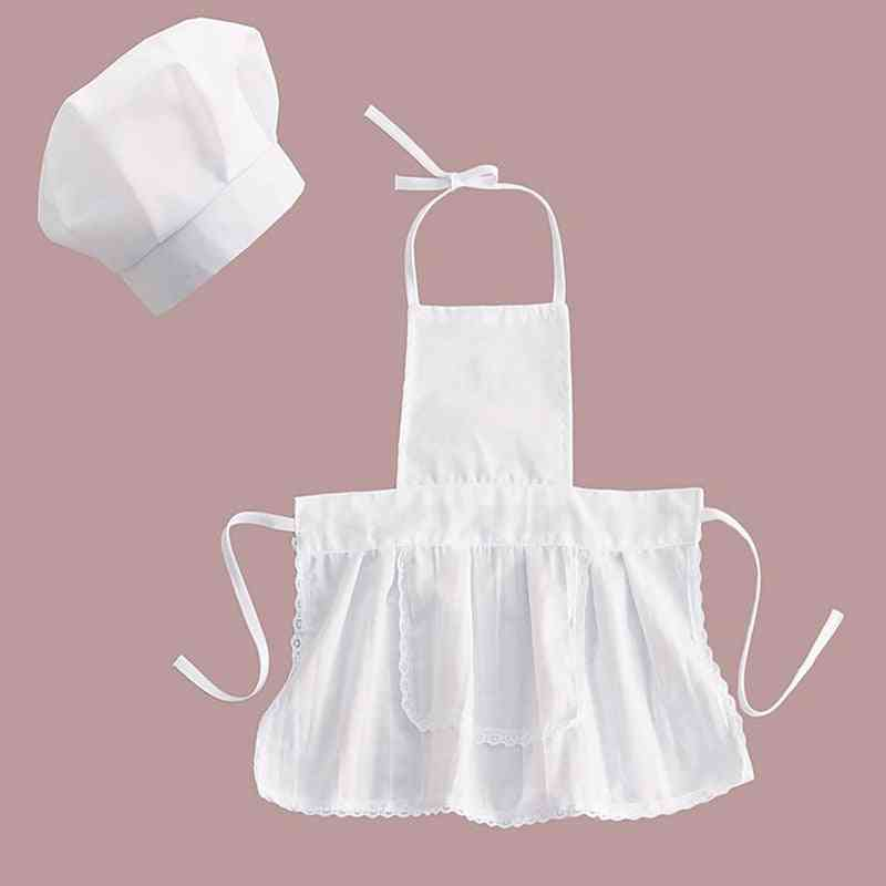 Cotton Blended- Chef Apron Costume & Hat