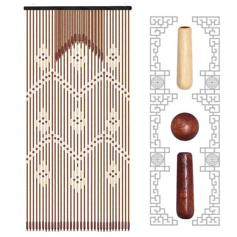 Wood Bead Curtain Gourd Hanging Door Curtain Household Partition Curtain Porch
