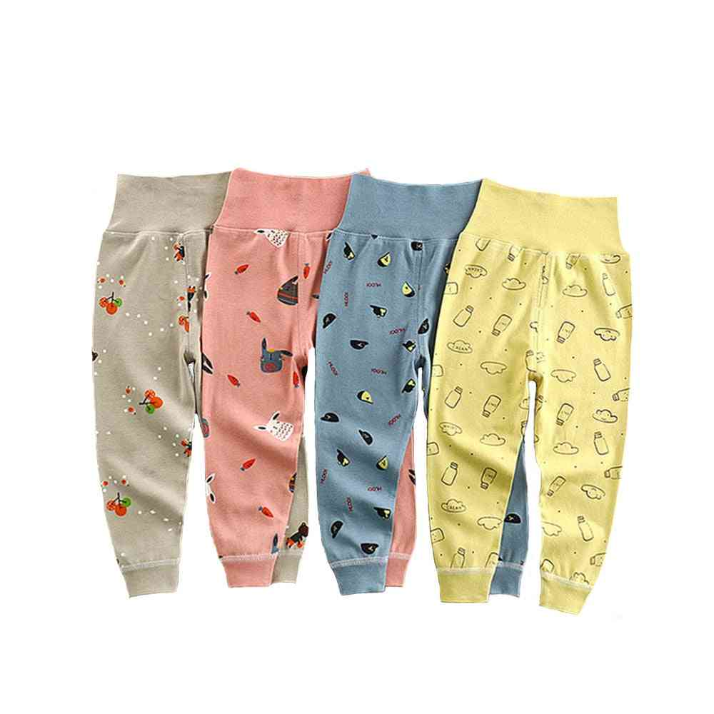 Baby Bottom Leggings Cotton Cartoon High Waisted Newborn Trousers