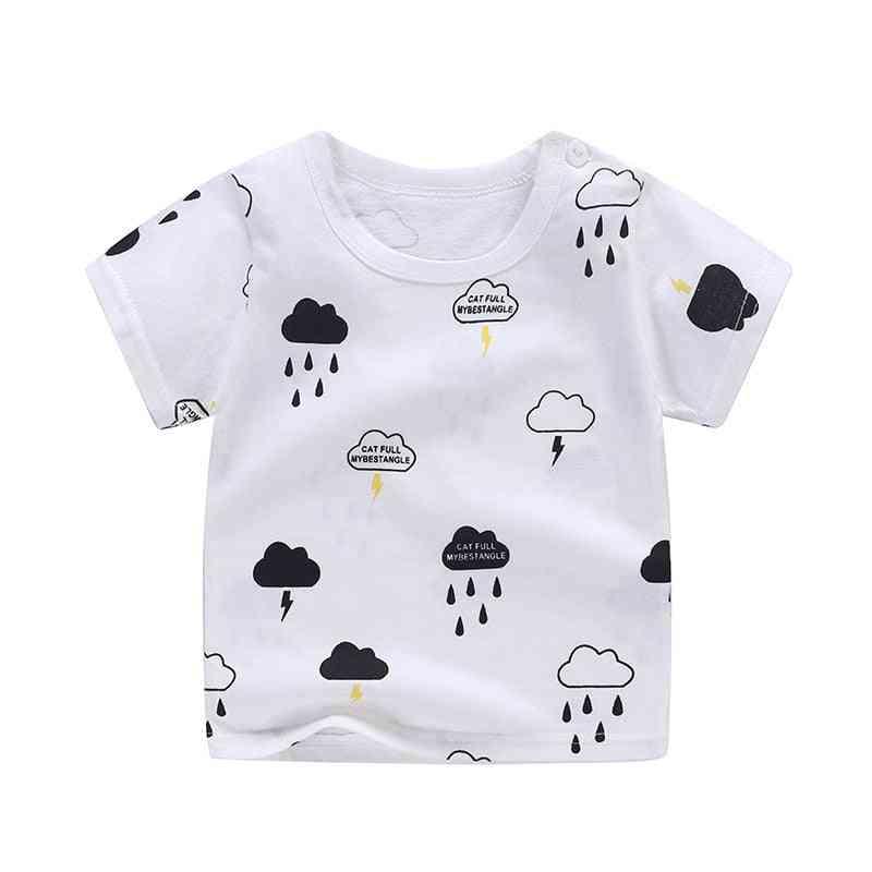 Summer Baby Boy T-shirt Short Sleeve Human Printed Cotton Casual Tops T-shirts