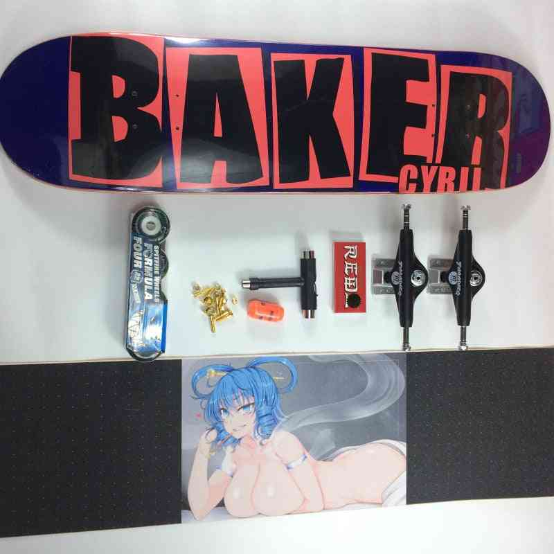 Skateboard Baker Pro Canadian Maple Skateboard Complete Set With All Accessories (one Set)