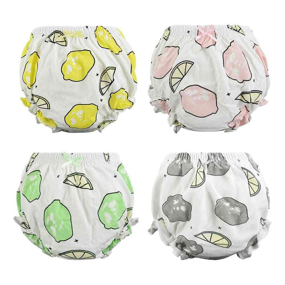 4 Pcs/lot Cotton Baby Underwear Cute Diaper Panties For