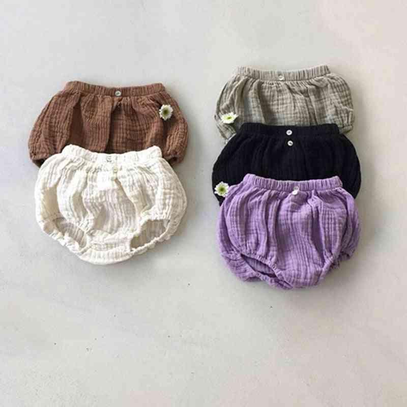 Kids Harem Pants Cotton Linen Baby Short Trousers Pp Pants
