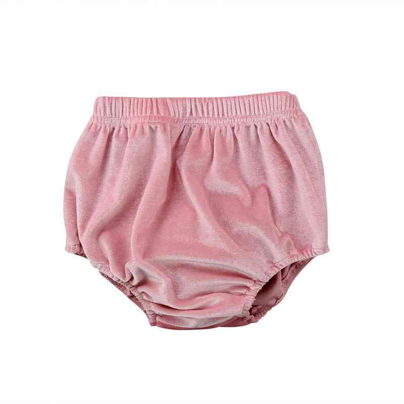 New Fashion Newborn Baby Velvet Bloomer Shorts Pants