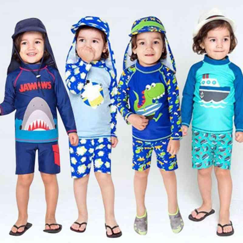 Kids Boy Swimwear Swim Trunk Beach Cap Baby Cartoon Bathing Suit