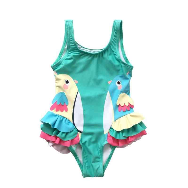 Baby Swimsuit With Cartoon Pattern Beachwear Bathing Suit