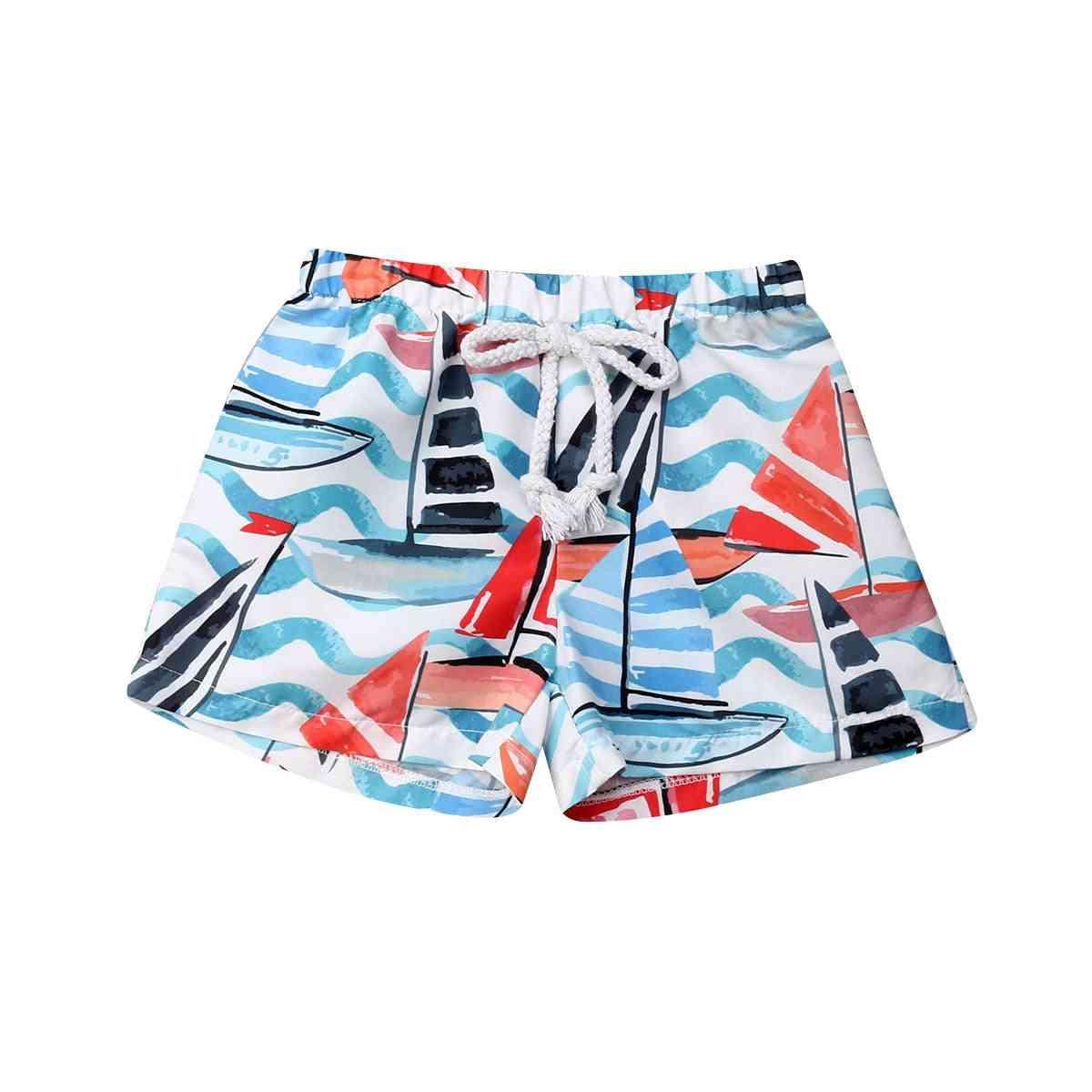 Baby Elastic Waist Short Trunk Summer Holiday Swimwear Beachwear Shorts