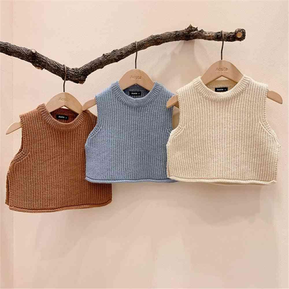 Baby Sweater Vest Newborn Knitting Waistcoat Tops