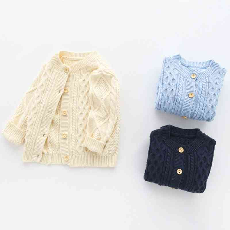 Baby Boy Knit Cardigan Knitted Jacket Long Sleeve Sweaters
