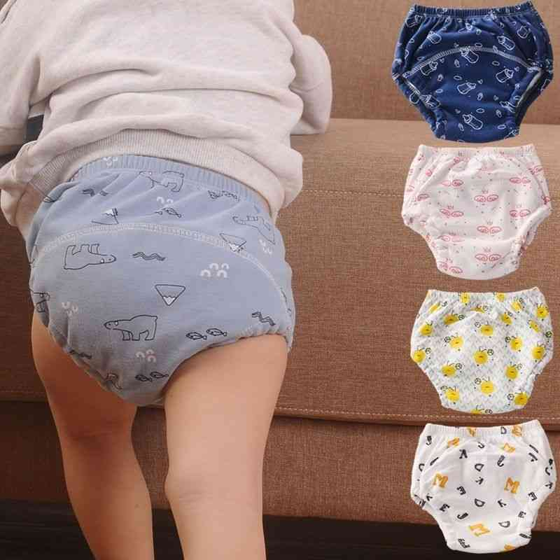 Pure Cotton Reusable Nappies, Waterproof Baby Cloth Diaper