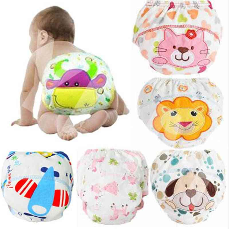 Baby Training Cotton Reusable Baby Diapers, Waterproof Cloth Nappies