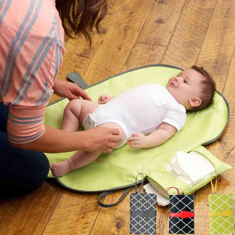 Waterproof Portable Baby Diaper Changing Mat Nappy Changing Pad Travel Changing Station Clutch Baby Care