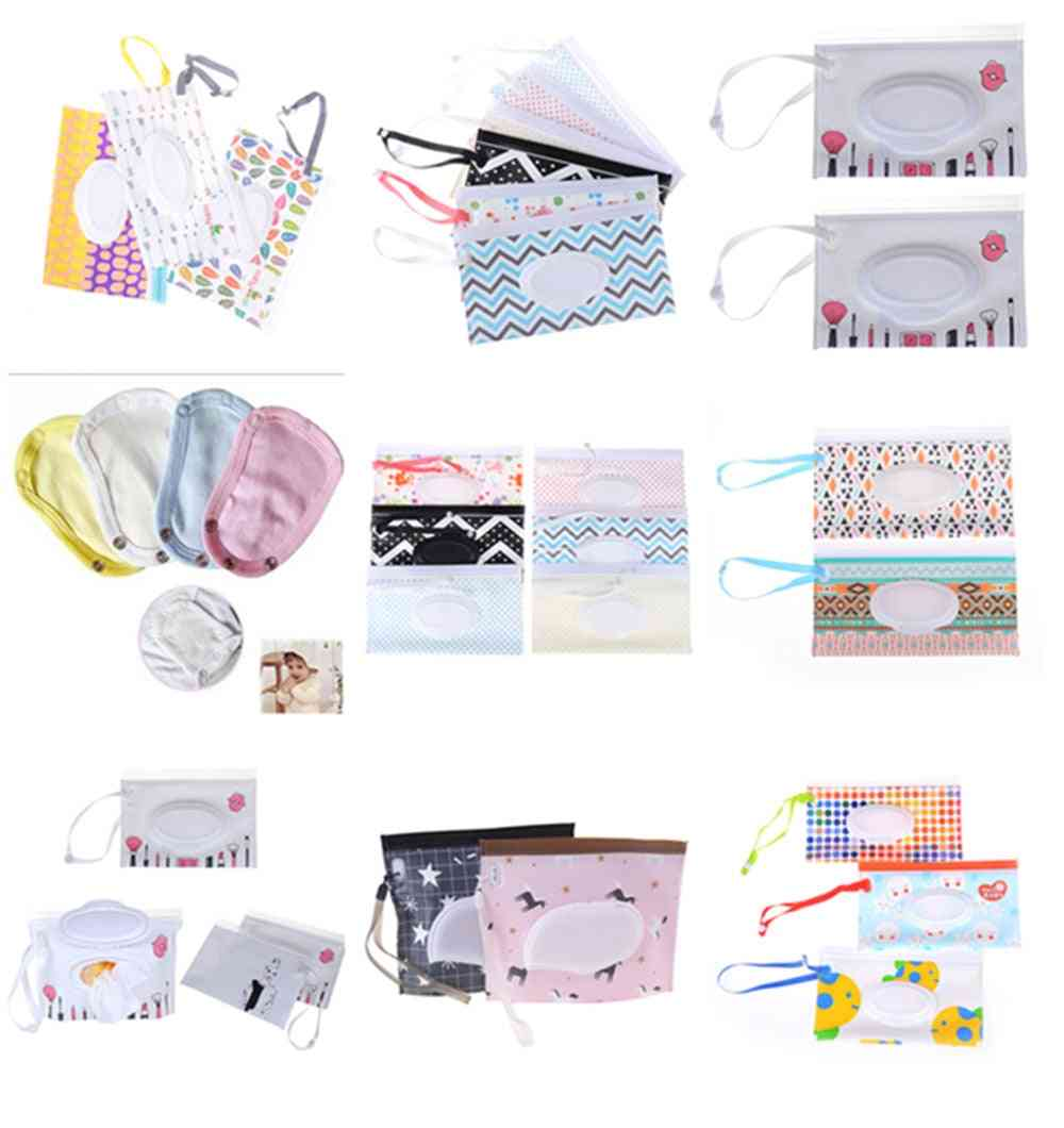 Towel Slim Paper Practical Travel Pouch Portable Clutch Outdoor Carrying Case Reusable Refillable Wet Wipe Bag