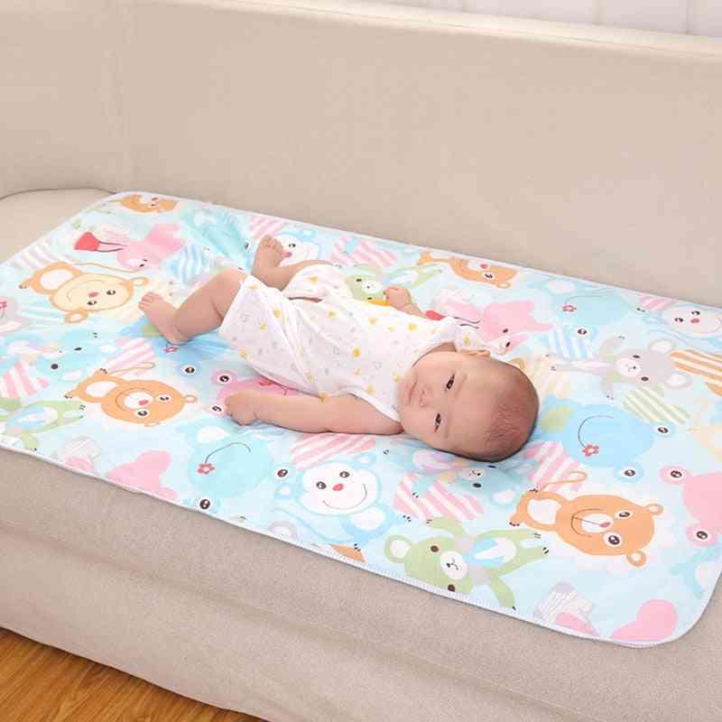 75x120cm Reusable Baby Changing Mats Cover Diaper Mattress For Newborn Waterproof Pats Play