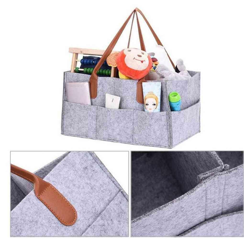 Foldable Felt Diaper Storage Bag, Multifunction, Kids Clothes, Handbag Baby Organizer, Nappy Bags