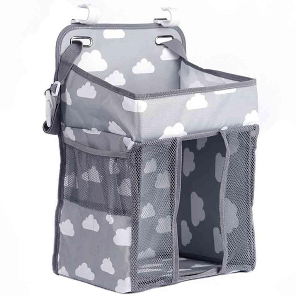 Baby Crib Hanging Storage Bag, Diaper, Nappy Organizer, Infant Essentials, Caddy Kids, Bedding Sets