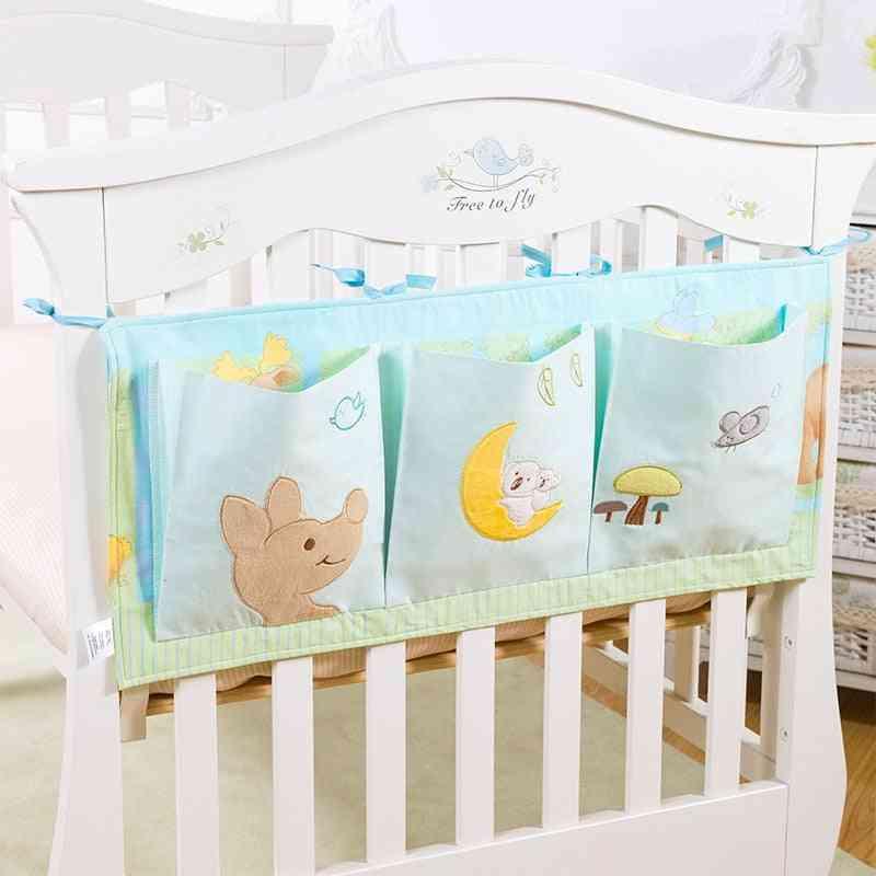Diaper Storage Bag, Baby Bed Cotton, Hanging Milk Bottle, Multifunctional, Door Pocket
