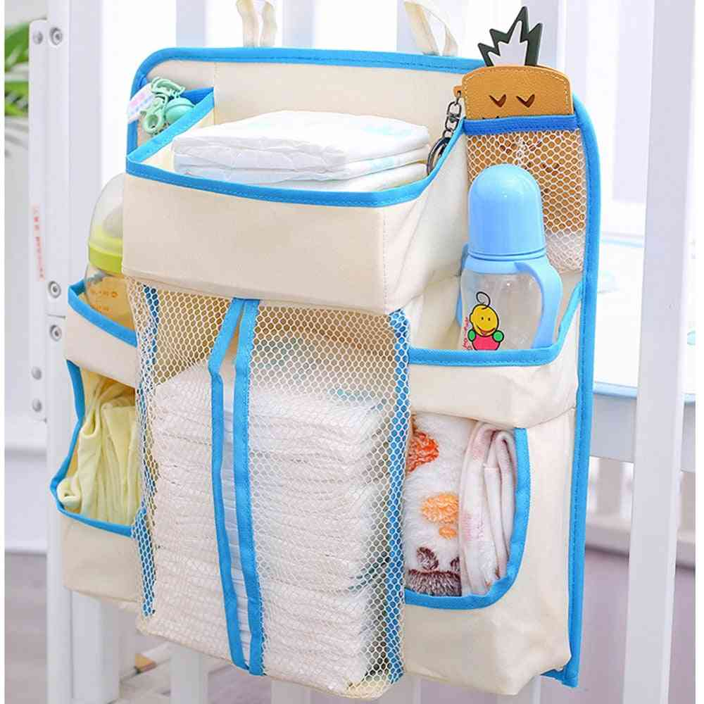 Baby Diapers Bags, Nursery Hanging Diaper, Wipes, Crib, Nappy Storage Holder Bag, Organizer