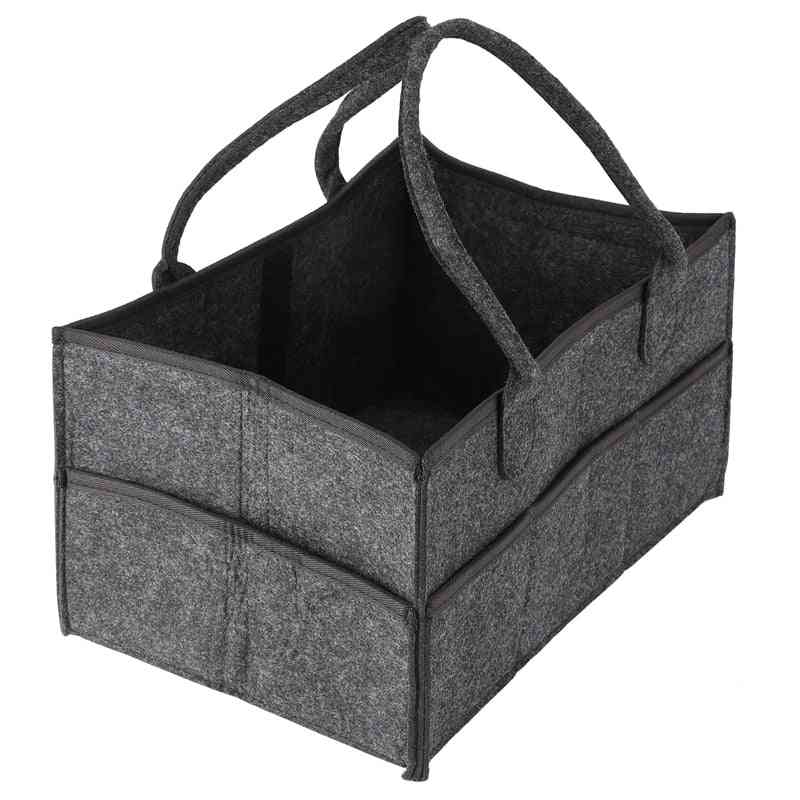 Baby Diaper Tote Organizer, Nursery Storage Bin, Portable, Wipes And, Changing Tab