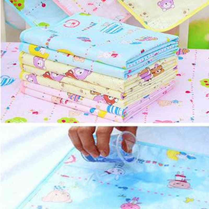 Breathable Baby Changing Cotton Pad Waterproof Small Nappies Soft For Newborns Washable Diaper  (34x43cm)