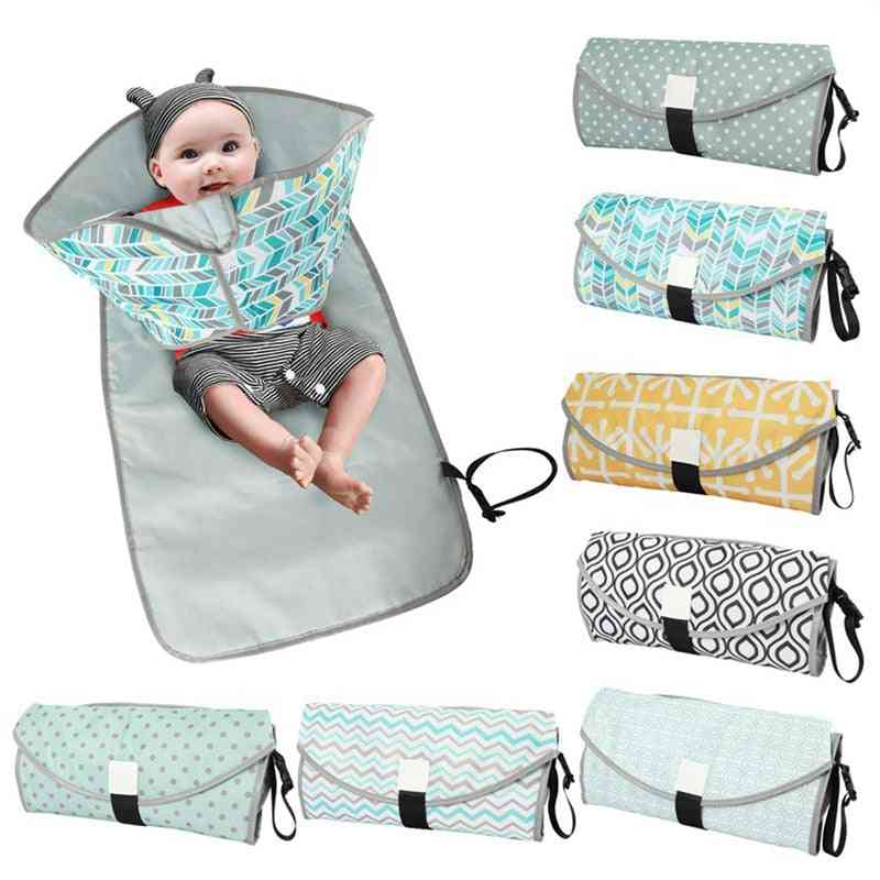 Baby Changing Mat Portable Travel Nappy Diaper Waterproof Changing Pads Cover Play Mat