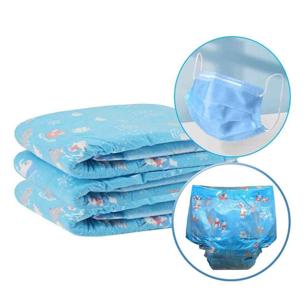 Abdl Adult Size Elastic Waistline High Absorption Soft Disposable Diaper