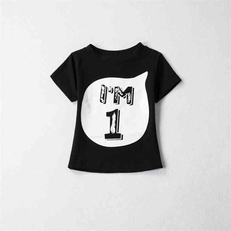 Summer Shirt Kid Baby Clothing Birthday Number T-shirt