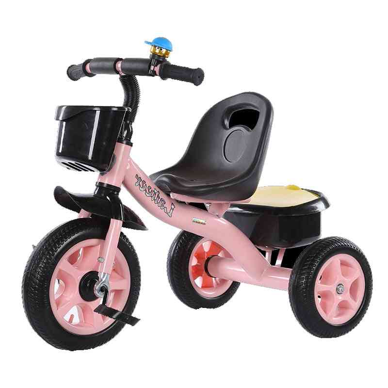 2 In 1 Kids Push Along Tricycle Baby Toddler Trike Bike