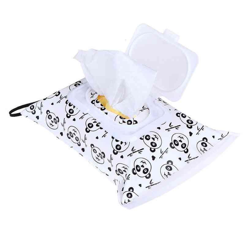 Snap-strap Container, Wet Wipes Cosmetic Pouch, Carrying Bag