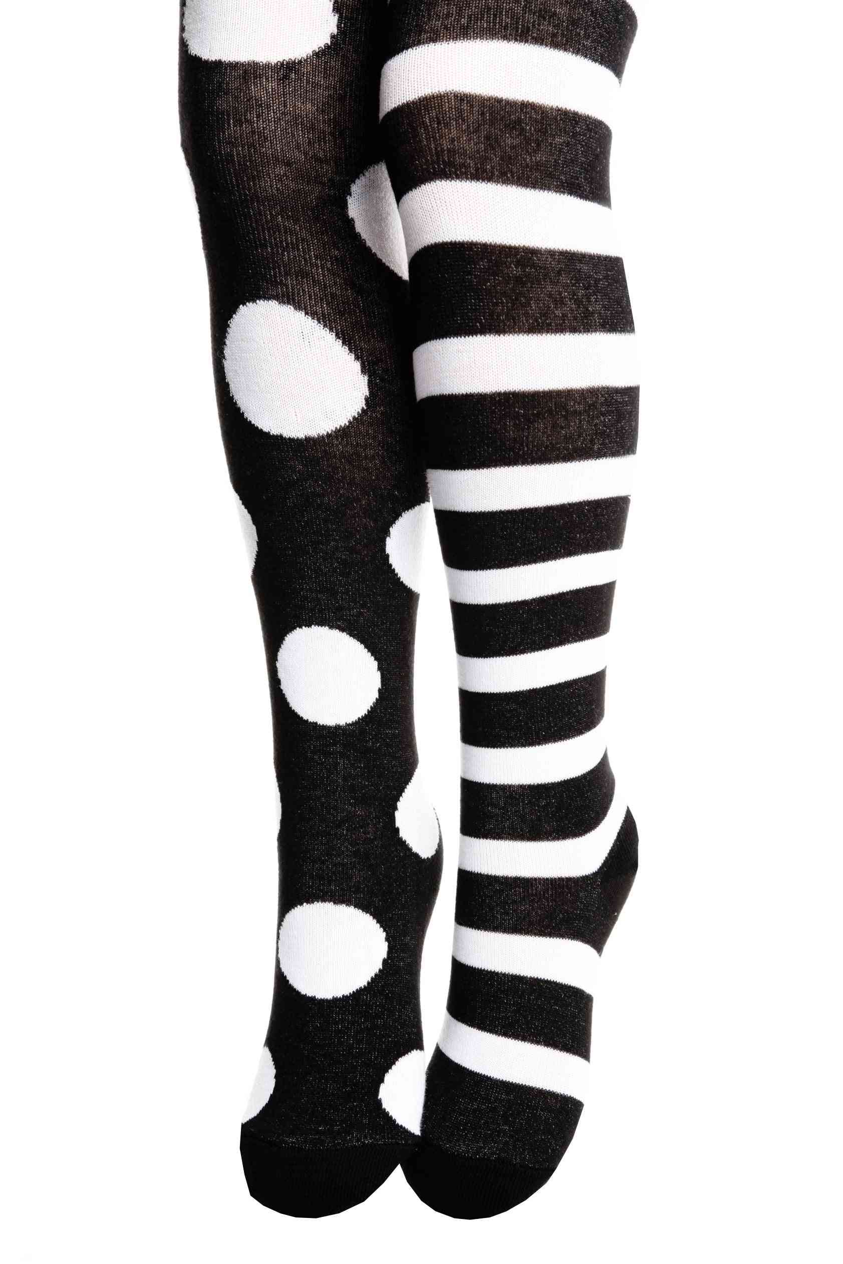 Funny Dots Black Cotton Tights For Children