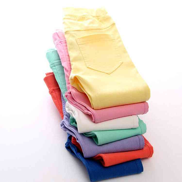 Spring/summer Girl Candy Color Cotton Leggings Slim Pencil Pants