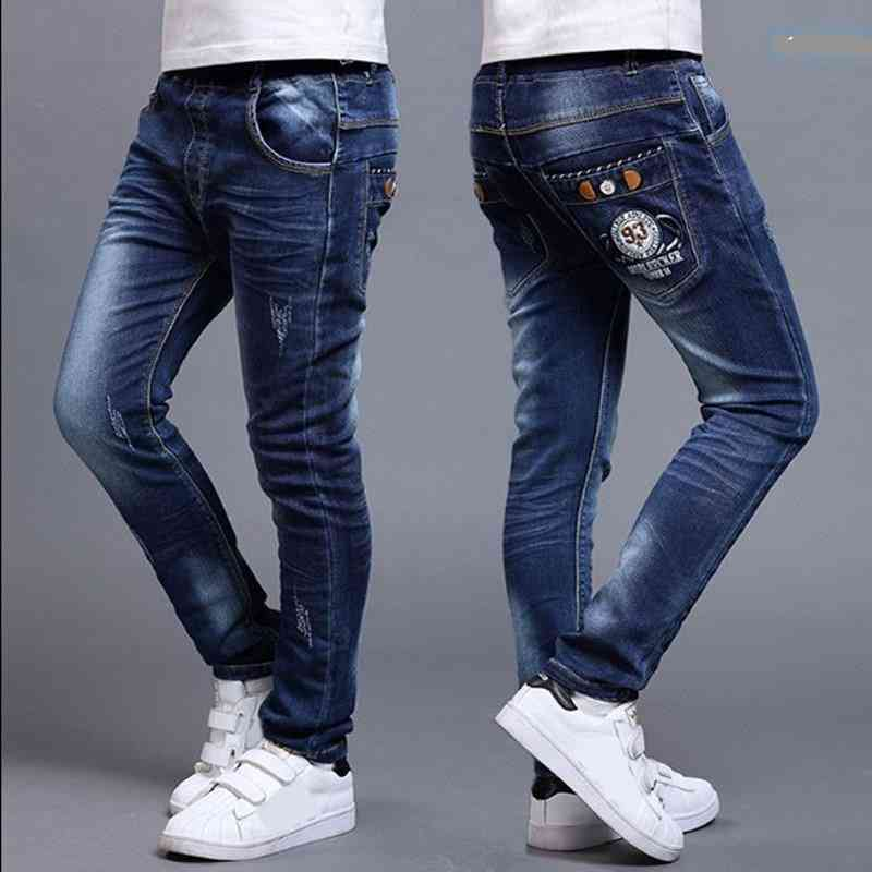 Fashion Trousers Boy's Denim Long Pants Slim Jean