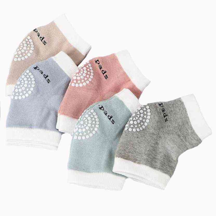 Baby Cotton Crawling Leggings Half-loop Non-slip Dispensing Leg Warmer Knee Pads