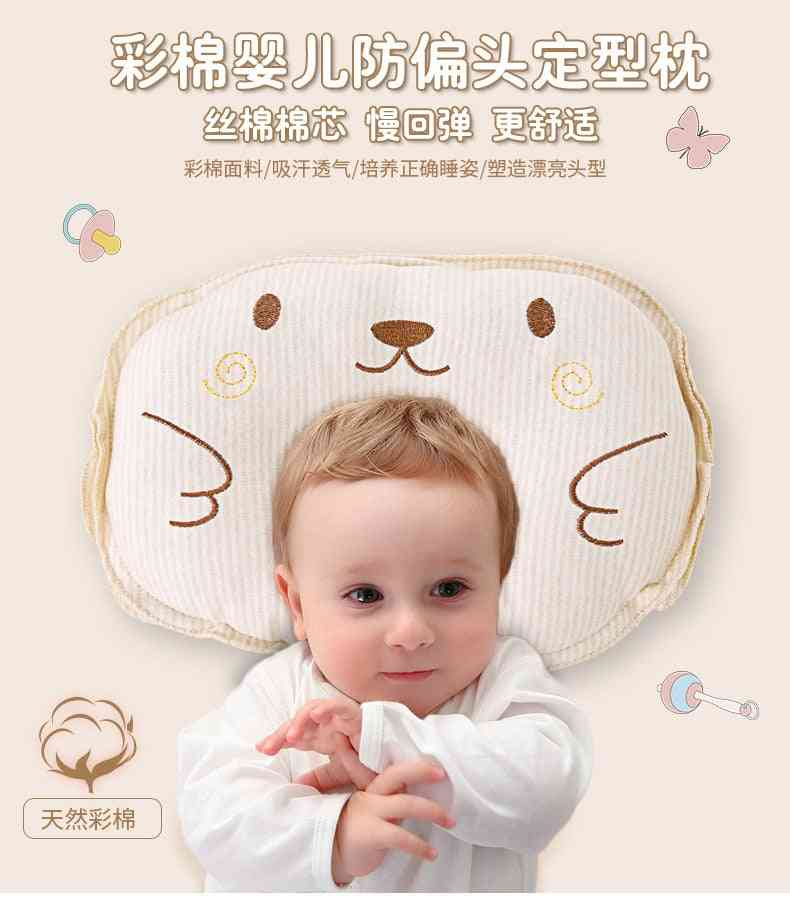 Baby Nursing Infant Sleep Support Concave Cartoon Printed Shaping Cushion