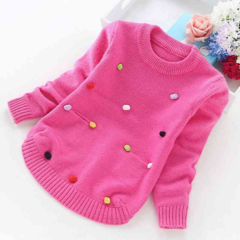 Big Girl Winter Sweaters Knitting Pullovers Top Korean Style Cardigans