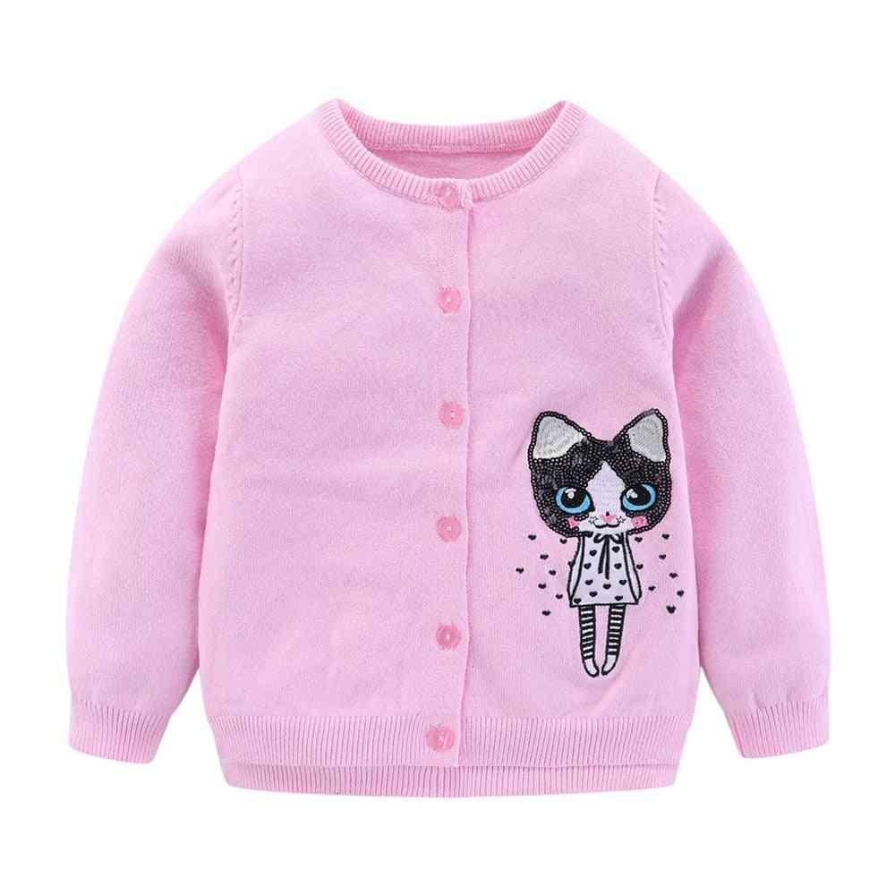Little Cardigan Sweaters Cute Cartoon Sequins Fashion Outerwear