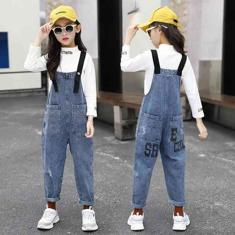 Pocket Casual Jeans Jumpsuits