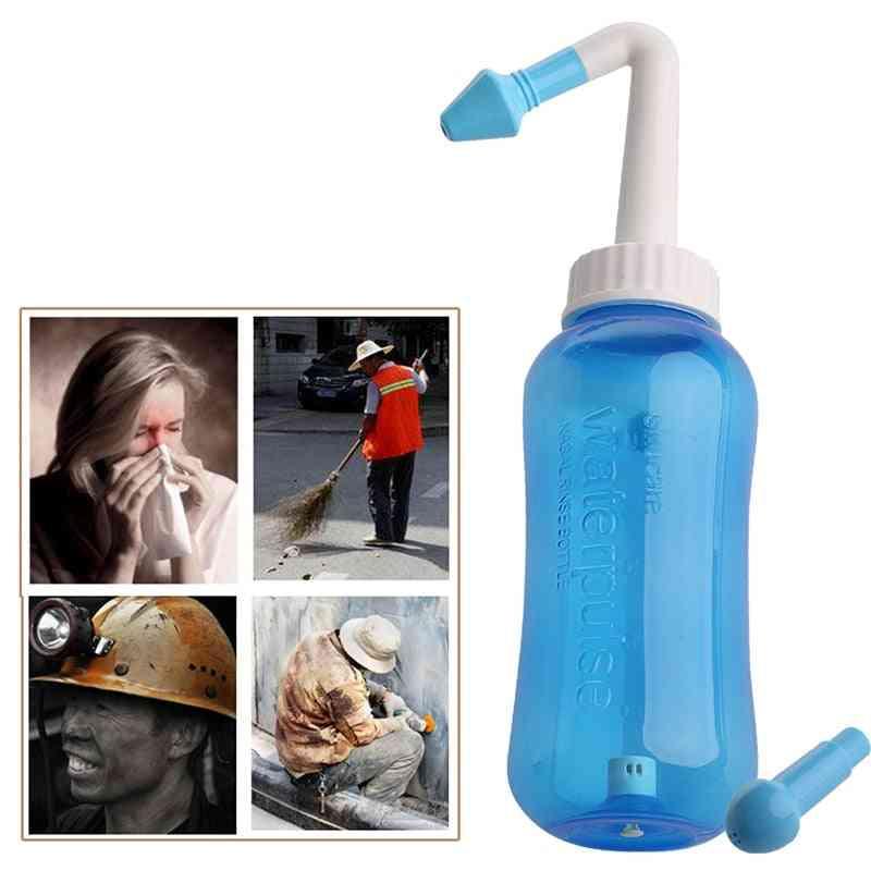 Adults Neti Pot Nasal Nose Wash Yoga Detox Sinus Allergies Relief Rinse